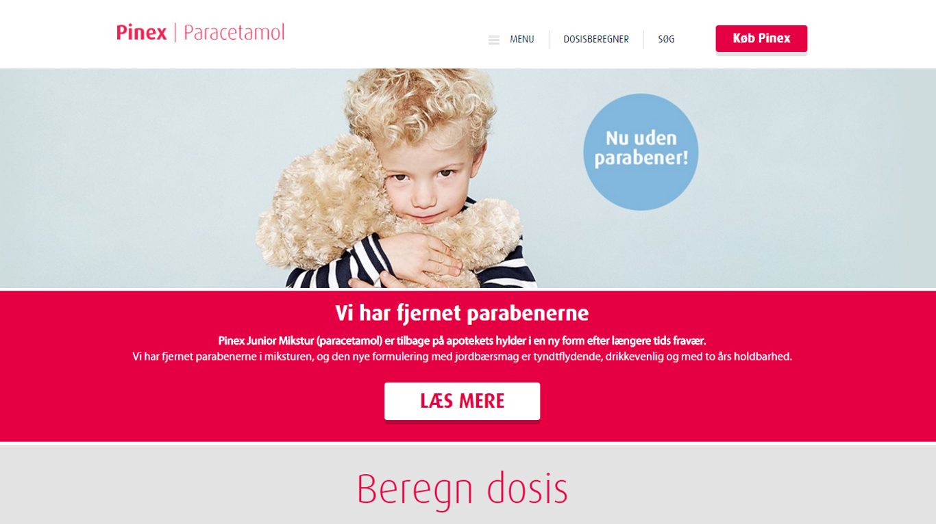 Nyt website Pinex
