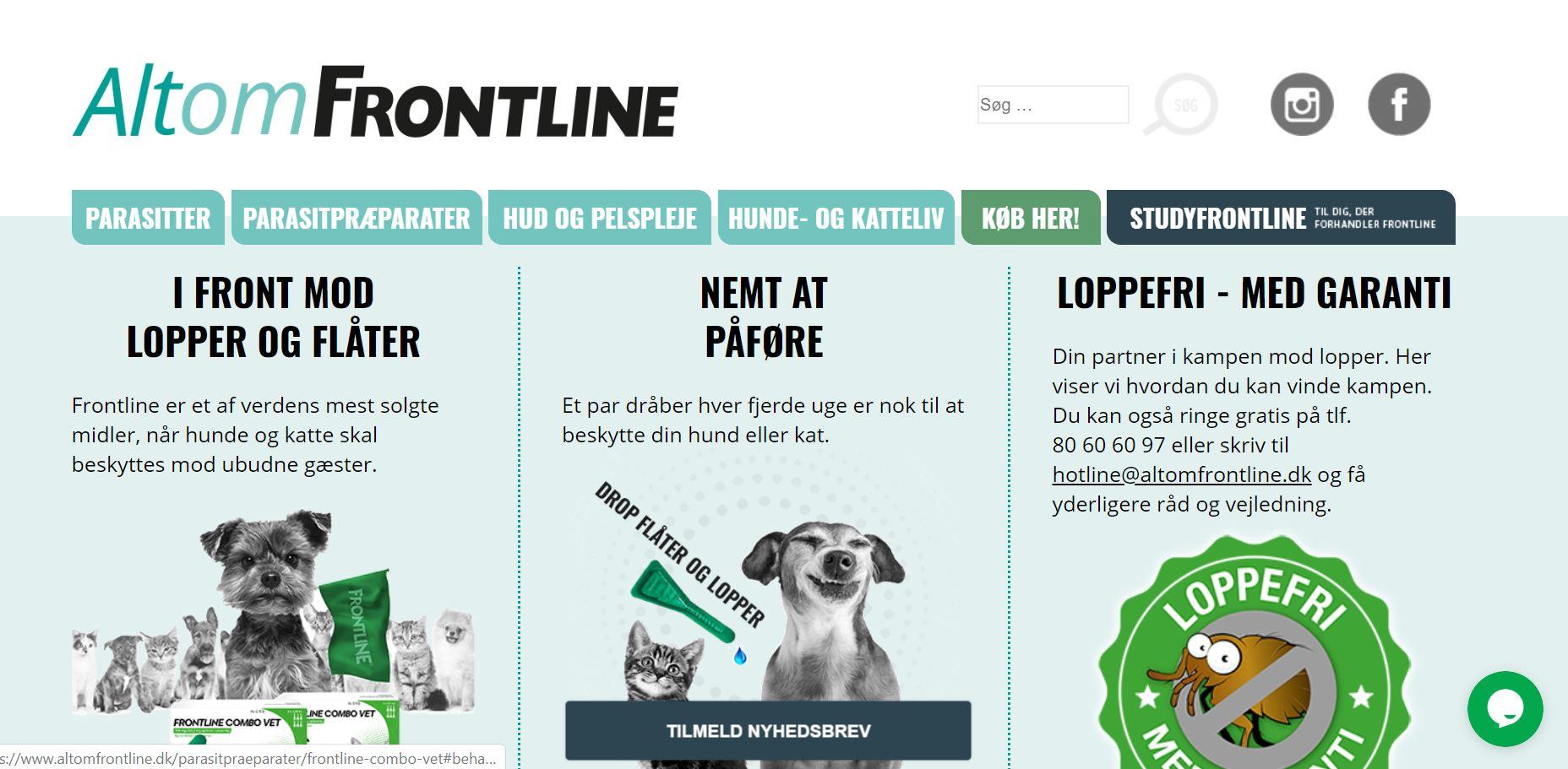 Frontline nyt website (Boehringer Ingelheim)